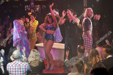 Mooky (Performer), Miss Behave (Performer), Marawa (Performer), David O'Mer (Performer) and Captain Frodo (Performer) during the curtain call