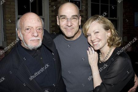 Stock Image of Harold Prince (Director), Mandy Patinkin (Eunuch) and Susan Stroman (Director/Choreographer)