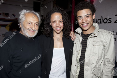 Nadim Sawalha (Oupa Yonkers), Cat Simmons (Veronica Yonkers) and David Judge (Alfred Witbooie)