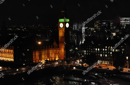 The Houses of Parliament and Big Ben at night, London, Britain