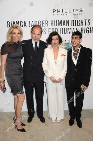 Nadja Swarovski, Simon de Pury, Bianca Jagger and Raqib Shaw