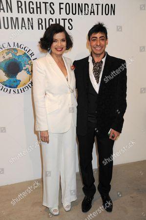 Bianca Jagger and Raqib Shaw