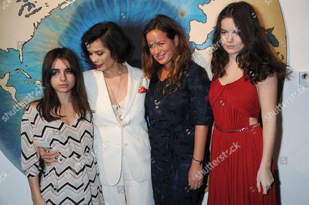 Assisi Jackson, Bianca Jagger, Jade Jagger and Amba Jackson