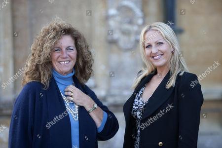 Lady Sarah Apsley and Christina Schmid - widow of SSGT Olaf Schmid