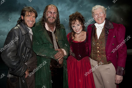 Steven Hartley (Bill Sykes), Russ Abbot (Fagin), Kerry Ellis (Nancy) and Stephen Moore (Mr Brownlow)