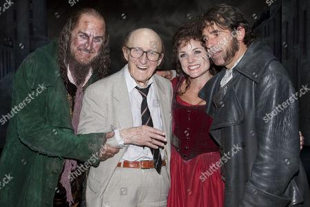 Russ Abbot (Fagin), Ron Moody (Fagin), Russ Abbot (Fagin) Kerry Ellis (Nancy) and Steven Hartley (Bill Sykes)