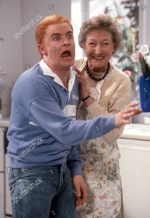 Bobby Davro and Pat Coombs