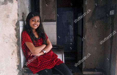 Editorial photo of 'Slumdog Millionaire' child star Rubina Ali in her new home, Mumbai, India - 15 Oct 2011