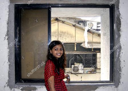 Editorial picture of 'Slumdog Millionaire' child star Rubina Ali in her new home, Mumbai, India - 15 Oct 2011
