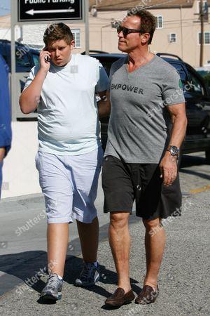 Christopher Schwarzenegger and Arnold Schwarzenegger