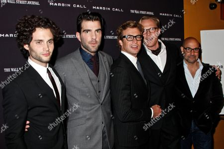Penn Badgley, Zachary Quinto, Simon Baker, Paul Bettany and Stanley Tucci