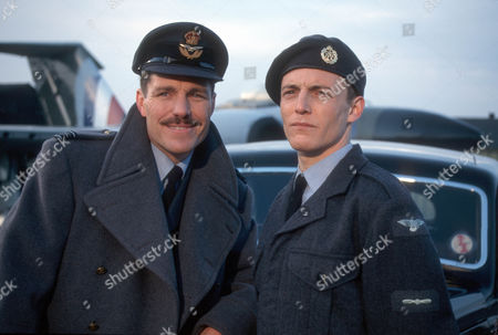Stock Picture of Nicholas Clay as Squadron Leader Cunningham and Lee Whitlock as Stanley Moon