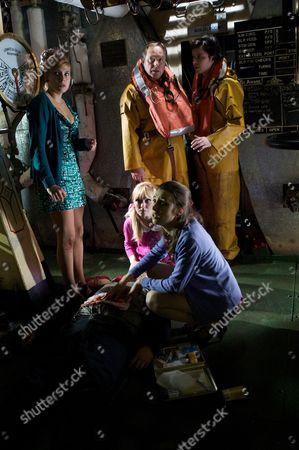 Faye (Lauren Drummond), Dr Gordon Ormerod (Robert Daws), Dr Ralph Ellis (Neil McDermott), Lizzie (Michelle Hardwick) and Carol (Diana May)