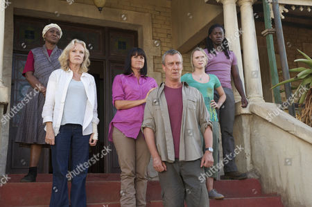 COMPANY PICTURES FOR ITV EPISODE 10 WILD AT HEART SERIES 6 Pictured: NOMSA XABA as Nomsa, HAYLEY MILLS as Caroline, DAWN STEELE as Alice Collins, STEPHEN TOMPKINSON as Danny Trevanion, OLIVIA SCOTT-TAYLOR as Olivia Adams and ATANDWA KANI as Thabo  Photographer: David Bloomer. For more Pictures please contact emily.page@itv.com This photograph is (C) ITV Plc and can only be reproduced for editorial purposes directly in connection with the programme or event mentioned above, or ITV plc. Once made available by ITV plc Picture Desk, this photograph can be reproduced once only up until the transmission [TX] date and no reproduction fee will be charged. Any subsequent usage may incur a fee. This photograph must not be manipulated [excluding basic cropping] in a manner which alters the visual appearance of the person photographed deemed detrimental or inappropriate by ITV plc Picture Desk. This photograph must not be syndicated to any other company, publication or website, or permanently archived.