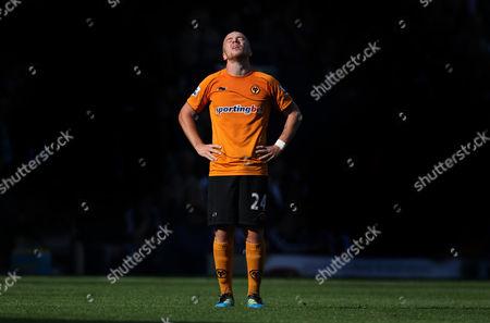A dejected Jamie O'Hara of Wolverhampton Wanderers