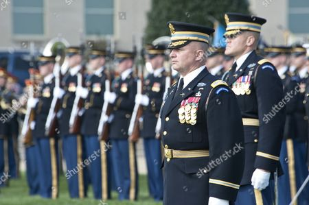 The Old Guard Army Unit stands at attention