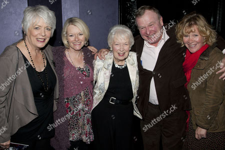 Alison Steadman, Suzy Aitchison, June Whitfield, Ian Talbot and Claire Carrie