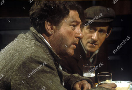 Stock Picture of Barnabus Holly (Ray Mort) and Topper Beachall (Gordon Rollings).