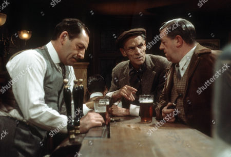 Bernard Kay as Tom Sawdon, Peter Madden as George Hicks and John Comer as Bill Meyer