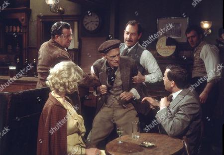 John Comer as Bill Meyer, Peter Madden as George Hicks and Bernard Kay as Tom Sawdon