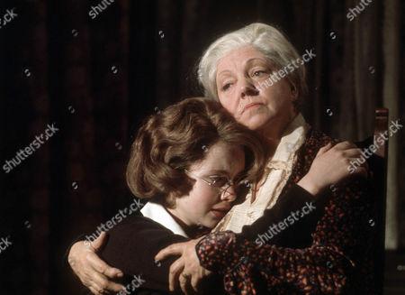 Judi Bowker as Midge Carne and Hermione Baddeley as Mrs Beddows
