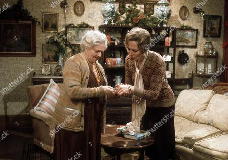 Hermione Baddeley as Mrs Beddows and Hilary Crane as Sybil Beddows