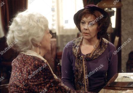 Hermione Baddeley as Mrs Beddows and Dorothy Tutin as Sarah Burton