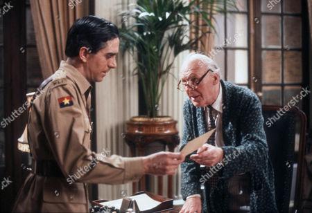 Nicholas Le Provost as Captain Nigel Rowan and John Horsley as Sir George Malcolm