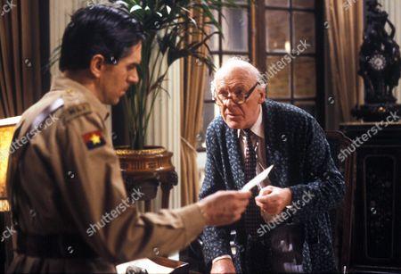 Stock Photo of Nicholas Le Provost as Captain Nigel Rowan and John Horsley as Sir George Malcolm