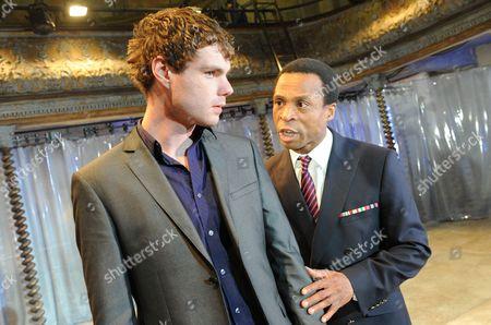 Stock Photo of Matthew Needham as Nero, Jude Akuwudike as Burrhus