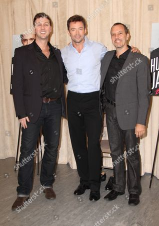 Stock Image of Warren Carlyle, Hugh Jackman and Patrick Vaccariello