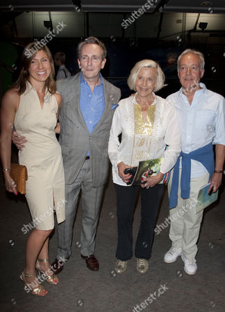 Claire Burnell, Charlie Burnell, Honor Blackman and Nickolas Grace