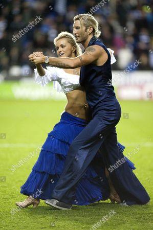Stock Image of Robbie Savage and his dance partner Orla Jordan