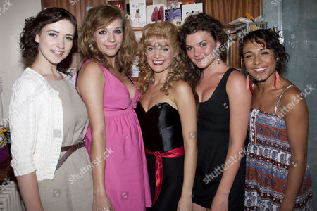 Stock Picture of Danielle Hope, Jessica Robinson, Lauren Samuels (Sandy), Dani Rayner and Stephanie Fearon backstage