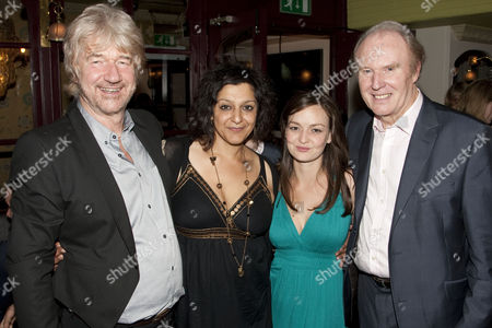 Willy Russell (Author), Meera Syal (Shirley Valentine), Laura Dos Santos (Rita) and Tim Pigott-Smith (Frank)