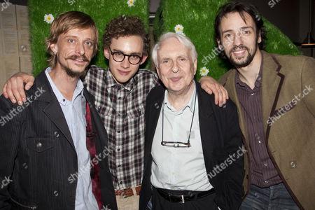 Mackenzie Crook (Jasper), Olly Alexander (Evan), Peter Gill (Director) and Ralf Little (KJ)