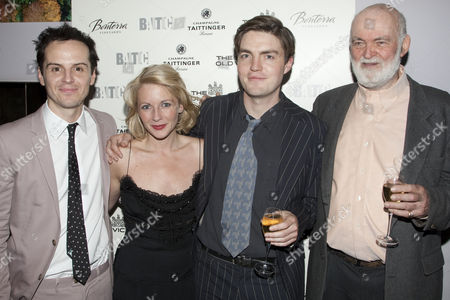 Andrew Scott (Leo), Lisa Dillon (Gilda), Tom Burke (Otto) and Anthony Page (Director)