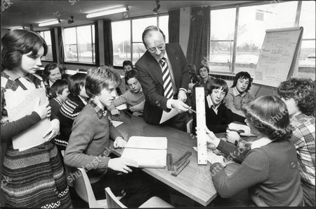 Gaywood Park Secondary School King's Lynn- 1979. Young Achiever Project With Mike Ison Of Dynatron With Secretary Sharon Cook And Managing Director Danny Kelly.