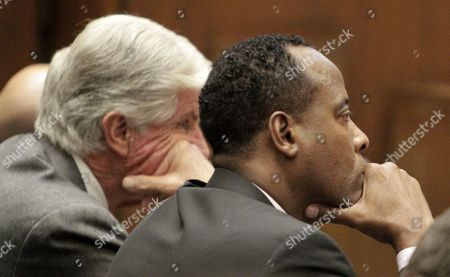 Defence attorney J. Michael Flanagan, Dr. Conrad Murray