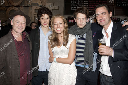 Ewan Stewart (Mark), James Musgrave (Josh), Nina Raine (Director), Michael Marcus (Cam) and Richard Lintern (Roland)