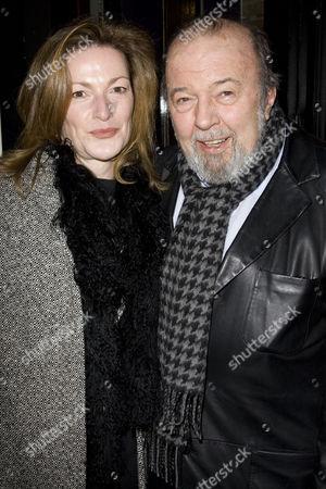 Stock Image of Nikki Frei and Sir Peter Hall