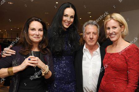 Lisa Gottsegen, L'Wren Scott, Dustin Hoffman and Sydney Ingle-Finch