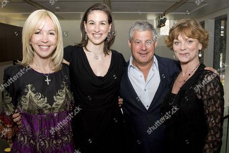 Sally Greene, Becky Barber, Cameron Mackintosh and Samantha Bond