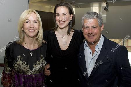 Sally Greene, Becky Barber and Cameron Mackintosh