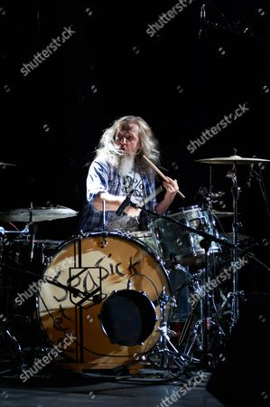 Stock Photo of Seasick Steve drummer Dan Magnusson