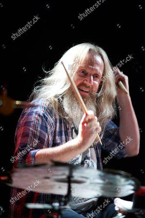 Stock Picture of Seasick Steve drummer Dan Magnusson