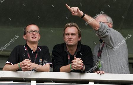 Stock Picture of Ashes To Ashes Actor Phil Glenister Watches The Rain At The 2010 Ryder Cup At The Celtic Manor Newport South Wales  01.10.10 2010 Ryder Cup.