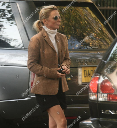 Geri Halliwell Visits The Highgate Home Of George Michael And Kenny Goss.