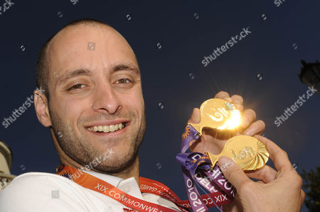 James Goddard With His Two Commonwealth Gold Medals