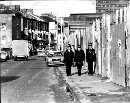 Editorial picture of The Brixton Police Launched Their Neighbourhood Team To Bring Peace To Railton Road By Producing P.c.'s Li68 Chris Morley (moustache) And L690 Stephen Wilkinson To Be Photographed Meeting The People After Twenty Years They Were Attacked By A Coloure